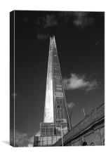 The Shard skyline BW, Canvas Print