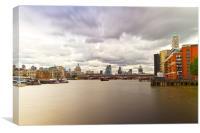 London  Skyline Waterloo  Bridge, Canvas Print
