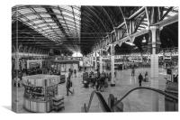 Paddington Station BW, Canvas Print
