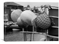 Fishing boats Weymouth , Canvas Print