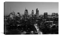 City of London Skyline BW, Canvas Print