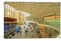 Kings Cross railway station London HDR, Canvas Print
