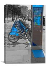 Boris Bikes, Canvas Print