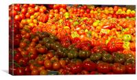 Vegetable stall Borough Market, Canvas Print