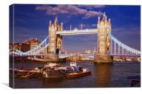 Tower Bridge fractals, Canvas Print