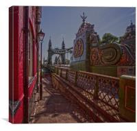 Hammersmith Thames Bridge, Canvas Print