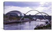 Newcastle river Tyne, Canvas Print
