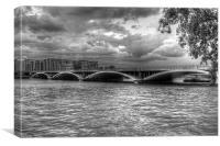 London Thames Bridges BW, Canvas Print