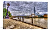 London Bridge Shard HDR, Canvas Print