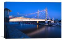 Albert Bridge at Dusk, Canvas Print