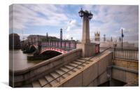 Lambeth Bridge Thames London, Canvas Print