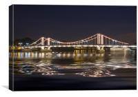 Chelsea  Bridge Thames London, Canvas Print