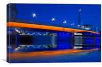 London Bridge Shard night HDR, Canvas Print