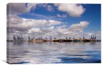Felixstowe container docks, Canvas Print