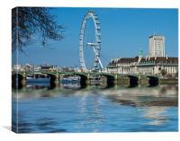 London Eye Westminster Bridge, Canvas Print