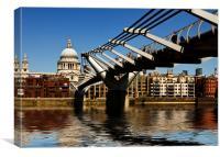 Millennium  Bridge St Pauls London, Canvas Print