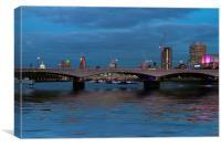 Waterloo  Bridge St Pauls London, Canvas Print