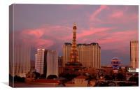 Bellagio Casino Las Vegas, Canvas Print