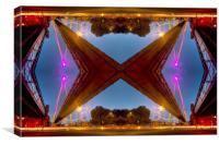 Golden Jubilee bridges London, Canvas Print