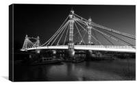 Albert Bridge at Dusk, Canvas Print