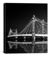 Albert Bridge at Night, Canvas Print