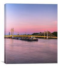 Albert Bridge at night Dusk, Canvas Print