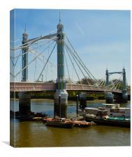 Albert Bridge London Thames, Canvas Print