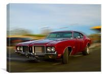 Classic Oldsmobile, Canvas Print