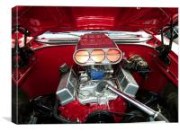 Classic Pontiac engine, Canvas Print