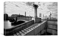 Lambeth Bridge London Thames, Canvas Print