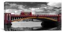 Vauxhall  Bridge Thames London, Canvas Print