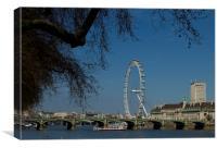 Westminster  Bridge London Eye, Canvas Print