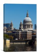 St Pauls Cathedral at London, Canvas Print