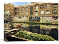 Crate Brewery Canal Side River Lea, Canvas Print