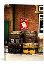 Baggage Station Platform , Canvas Print