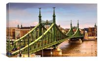 Liberty Bridge Budapest, Canvas Print