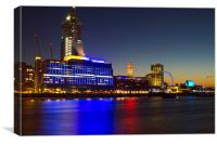Night Oxo Tower skyline, Canvas Print