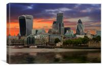 City of London, Canvas Print