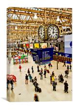 London Waterloo Station, Canvas Print