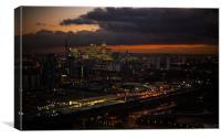 Docklands Skyline Sunset, Canvas Print