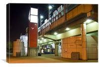 Royal Albert Docks Station, Canvas Print