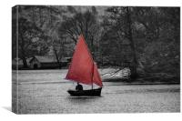 Sailing Ulswater, Canvas Print