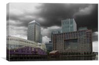 Canary Wharf Docklands, Canvas Print