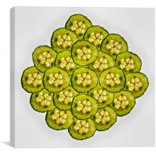 Cucumber Slices, Canvas Print
