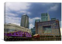 Stormy Canary Wharf, Canvas Print
