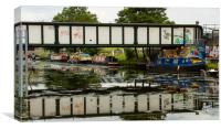 River Lea at Hackney Wick, Canvas Print