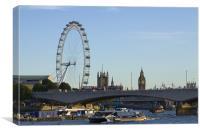 Thames View, Canvas Print