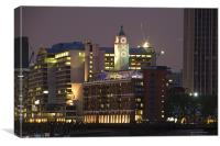 Oxo tower at night, Canvas Print