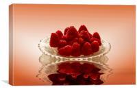Delicious Raspberries, Canvas Print