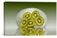 Fresh Kiwi fruits, Canvas Print